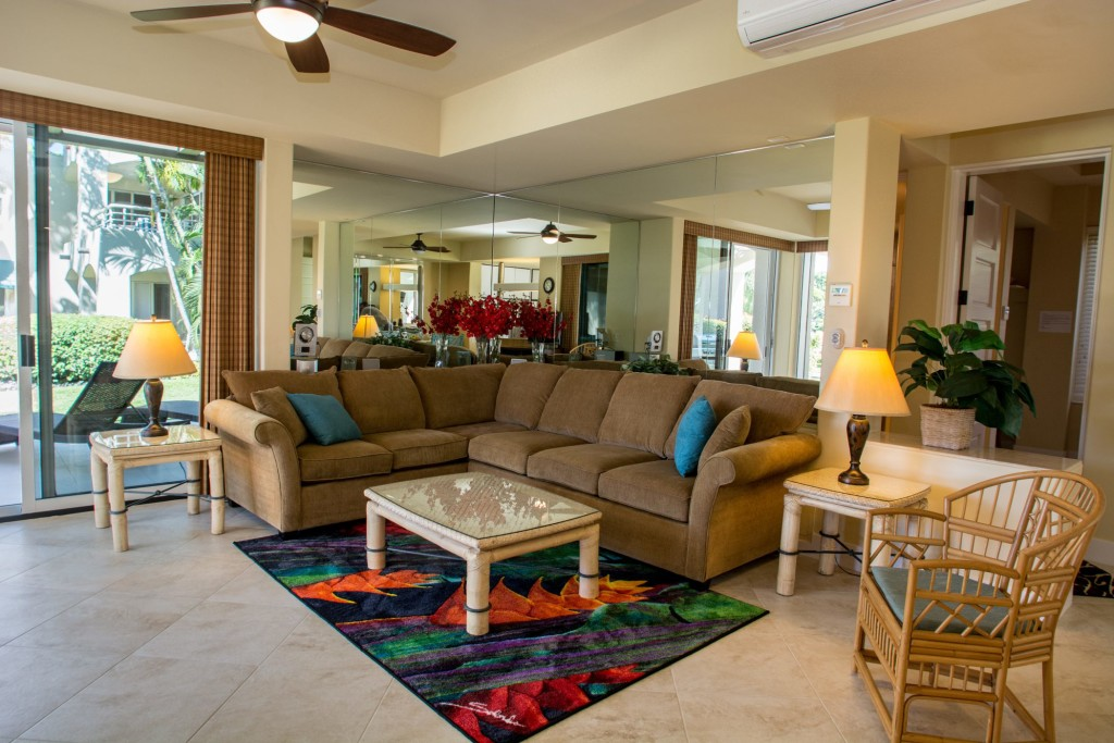 Palms at Wailea #503 living room