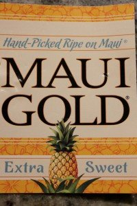Maui Gold pineapple label