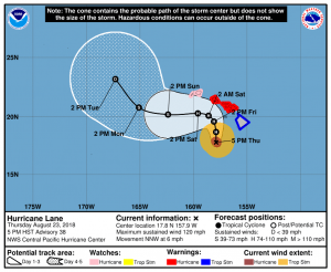 hurricane lane update